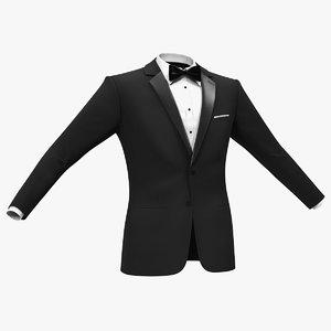 3D tuxedo black jacket