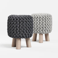 Chunky Knit Mini Stool
