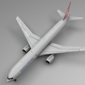 turkish airlines boeing 777-300er 3D model