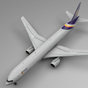 3D thai airways boeing 777-300er