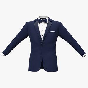 tuxedo blue jacket 3D