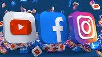 Facebook, Instagram, YouTube