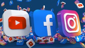 social facebook instagram youtube 3D model