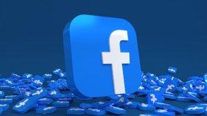 social media: icon 3D model