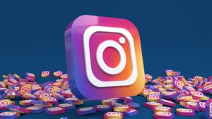 3D social media: instagram icon model
