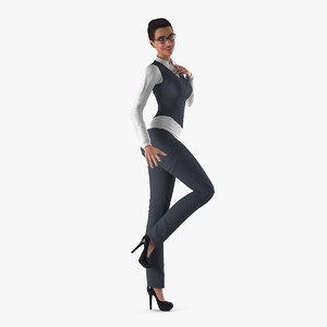 business woman 3D model