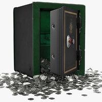 3D model coin safe