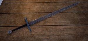 fantasy medieval long sword model