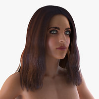 3D nude woman t-pose model