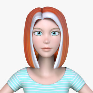 3D cartoon woman