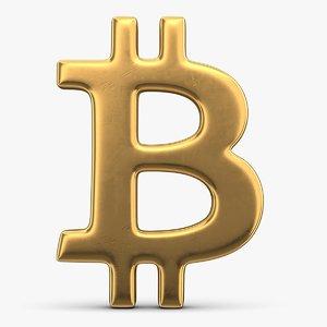 bitcoin sign symbol 3D model