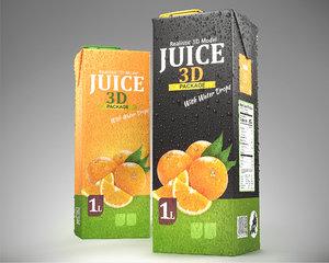 3D juice box