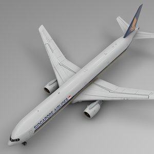 3D singapore airlines boeing 777-300er