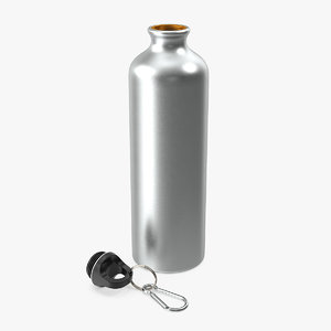 open bicycle aluminum water bottle 3D model