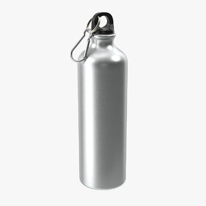 aluminum sport water bottle 3D model