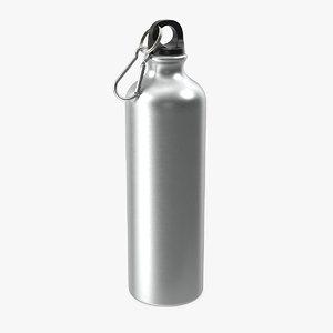 aluminum sport water bottle 3D model