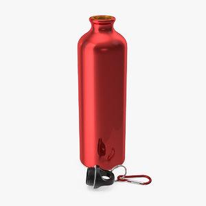 open lightweight red aluminum model