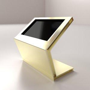 3D computer kiosk model