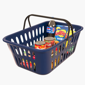 basket shopping 3D model