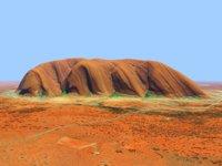 3D ayers rock uluru australia