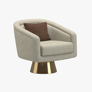 3D model jonathan adler lounge chair
