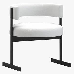 3D jorge zalszupin dining chair model