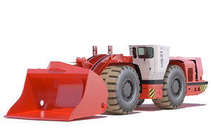 3D underground mining loader lh621