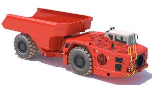 3D underground mining truck sandvik model