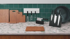 kitchenware counter 3D model