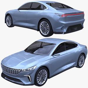 togg sedan car 3D model