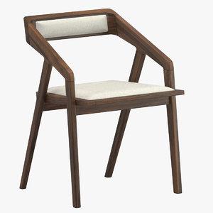 3D katakana dining chair model