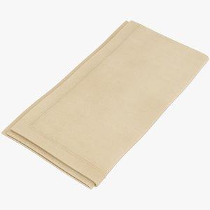 3D realistic folded napkin 2