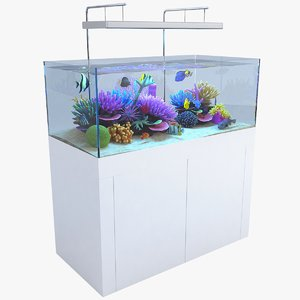 3D aquarium 01 model
