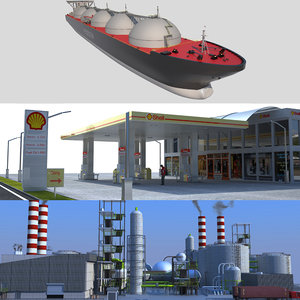 peak oil refinery tanker ship model
