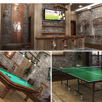 realistic billlard ping pong 3D model