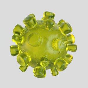 coronavirus virus 3D model