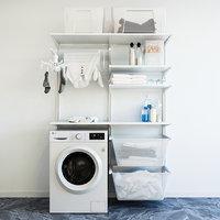 IKEA wall module Algot 8 washing machine