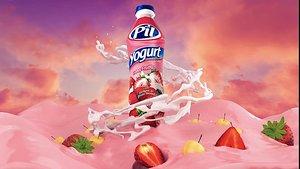 yogurt simulation 3D model