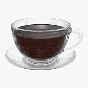 cup saucer tea 3D
