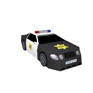 police car deputy 3D