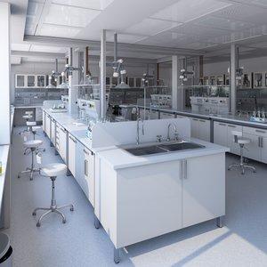 3D laboratory carefully model