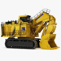3D mining excavator komatsu pc8000-6