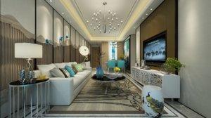 3D modern living area