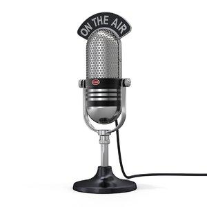 microphone mic retro model