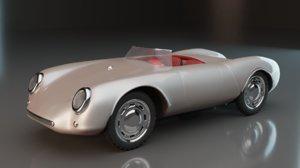 3D model simple sports car