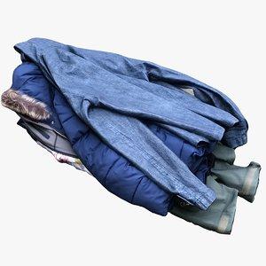 pile jackets 3D model
