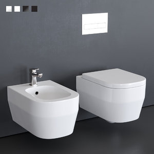toilet tutto evo wall-hung 3D