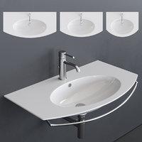 velis wall-mounted washbasin 3D model