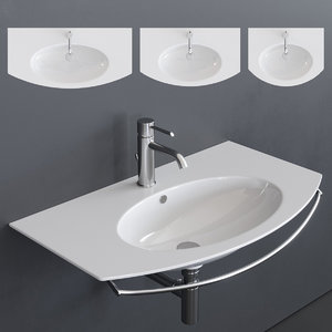 velis wall-mounted washbasin 3D model