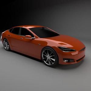 tesla s 2016 3D model